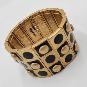 Lia Sophia Gold & Black Bracelet Cuff